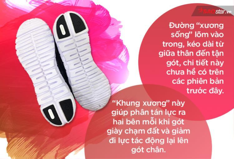 """Chi tiết đường """"xương sống"""" chưa hề có ở những sản phẩm trước đây được coi là điều đặc biệt nhất ở đôi giày này."""