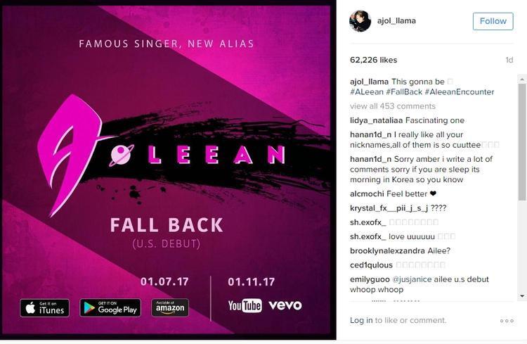 Instagram của Amber chia sẻ về màn debut của cô bạn thân.