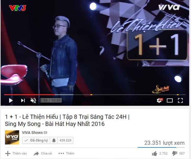 Chưa đầy 2 tiếng lên sóng, ca khúc đã thu hút hơn 23 nghìn lượt xem trên trang Youtube và trở thành ca khúc được khán giả mong đợi nhiều nhất.