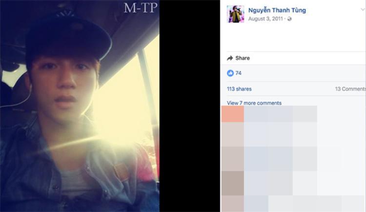 """Năm 2011, Sơn Tùng M-TP khá mộc mạc và giản dị. Dĩ nhiên, số lượng """"like"""" khi đó chỉ có 74 người."""