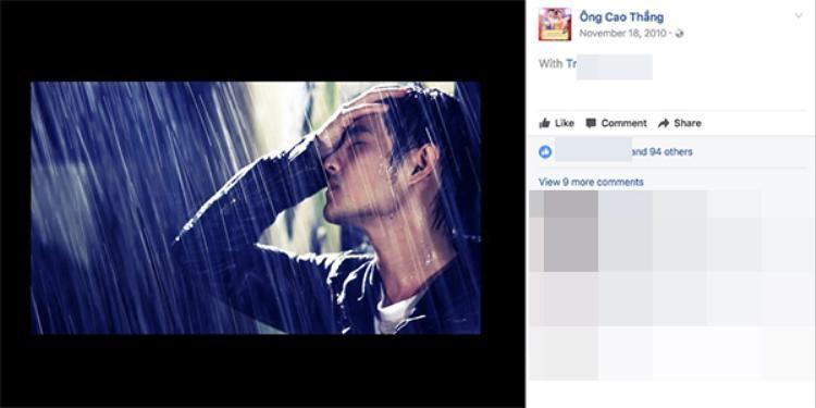 Ông Cao Thắng đứng dưới trời mưa vẫn rất ngầu nhỉ?
