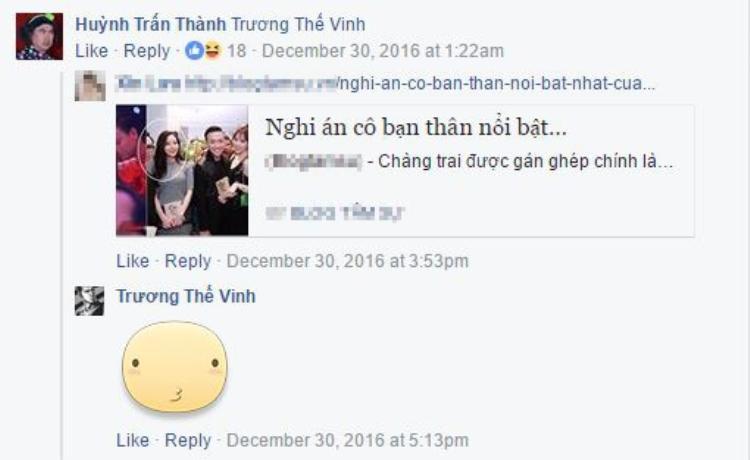 Trấn Thành tag tên Trương Thế Vinh khiến cư dân mạng đặt dấu hỏi lớn.