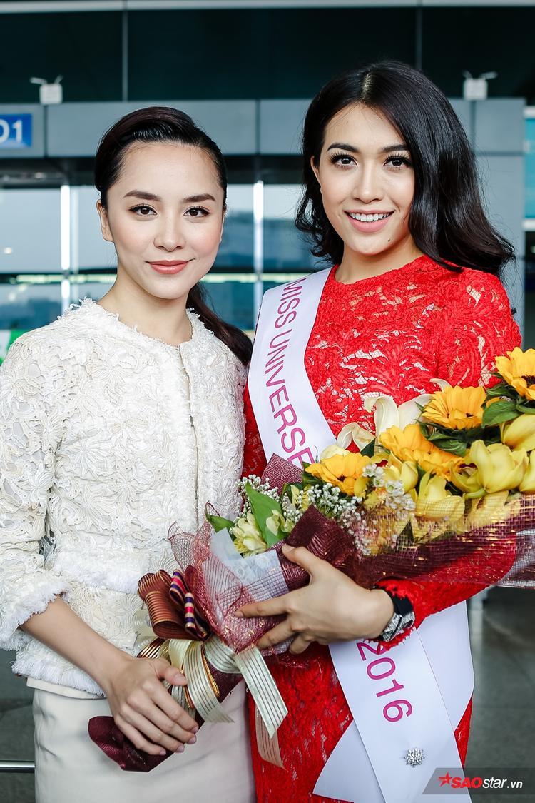 Lệ Hằng khoe sắc bên giám đốc quốc gia Hoa hậu Hoàn vũ Việt Nam - Dương Trương Thiên Lý.