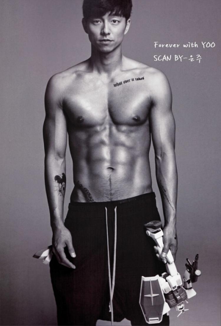 Dù là một trong những gương măt gạo cội của nền điện ảnh Hàn Quốc nhưng anh vẫn luôn khiến khán giả bất ngờ vì thân hình nóng bỏng của mình.