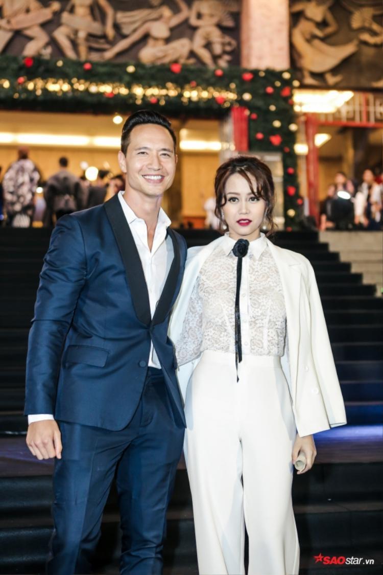 Kim Lý cùng An Nguy xuất hiện tại sự kiện.