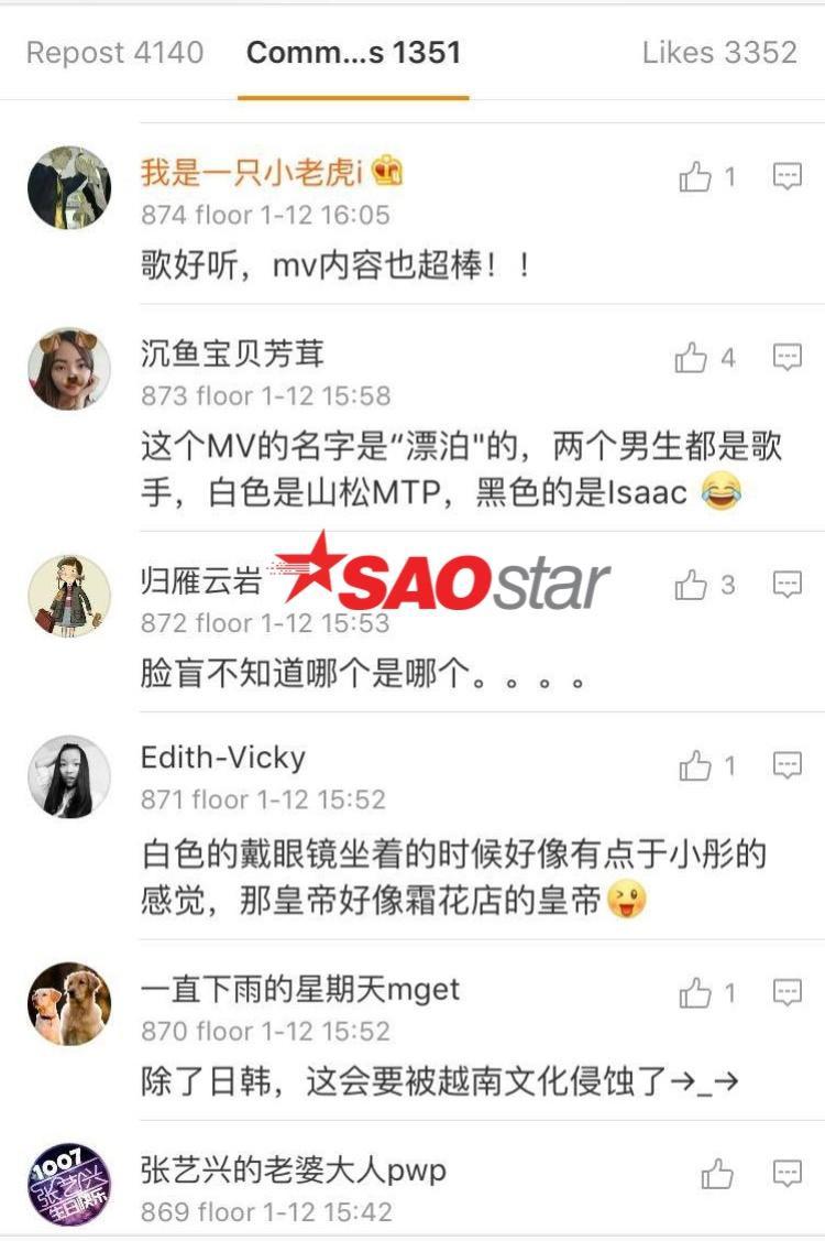 Các fan nữ không tiếc lời khen vẻ điển trai của Sơn Tùng - Isaac cũng như độ mê hoặc củaLạc trôi.