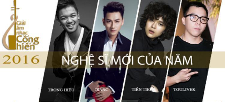 Loạt ca sĩ góp mặt trong bảng đề cử nghệ sĩ mới của năm 2016.