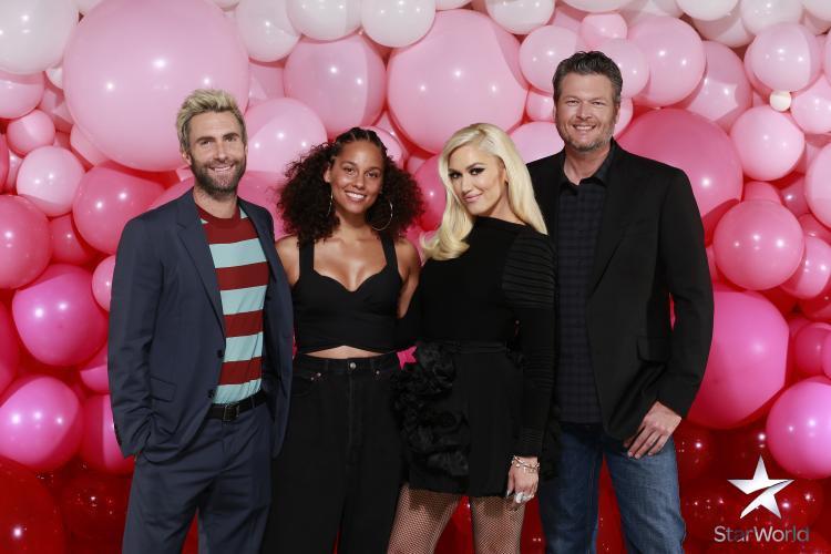 Bộ tứ HLV The Voice Mỹ mùa 12: Adam Levine, Alicia Keys, Gwen Stefani, Blake Shelton.