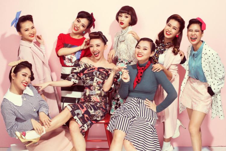 … và 7 thí sinh nữ đội Tóc Tiên.