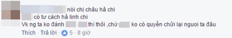 """Nhiều cư dân mạng cho rằng Linh Chi đang """"đá đểu"""" Phương Châu - vợ cũ Lâm Vinh Hải."""