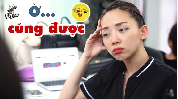 Hình ảnh hài hước của Tóc Tiên đang luyện tập các thí sinh