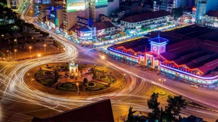 Bùng binh Quách Thị Trang trước ngày dở bỏ để xây tuyến đường sắt metro số 1 Bến Thành-Suối Tiên.