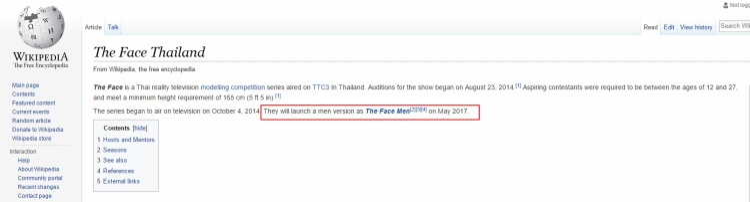 Thông tin trên trang Wikipedia