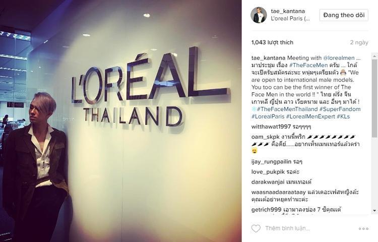 Thông báo chính thức của ông Tae trên instagram