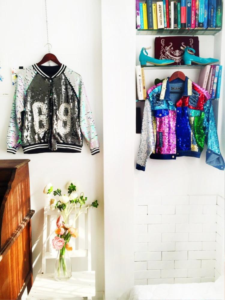 Chiếc áo khoác màu xanh lá cây của GAP là một trong những Item ưa thích nhất vì cả màu sắc, chất liệu, nút đều rất tinh tế.