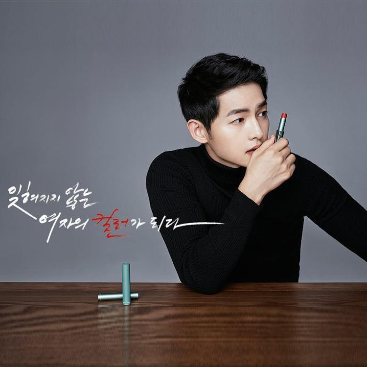Ngay cả son môi của hãng này cũng bán chạy gấp bội nhờ gương mặt đại diện Song Joong Ki