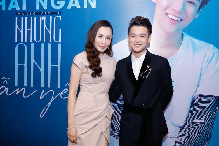 Hồ Quỳnh Hương xuất hiện trong buổi ra mắt MV Nhưng anh vẫn yêu.