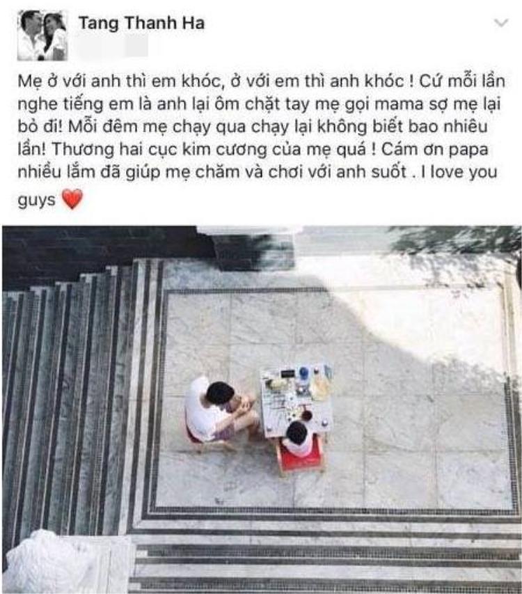 (Ảnh chụp từ facebook được cho là của Tăng Thanh Hà).