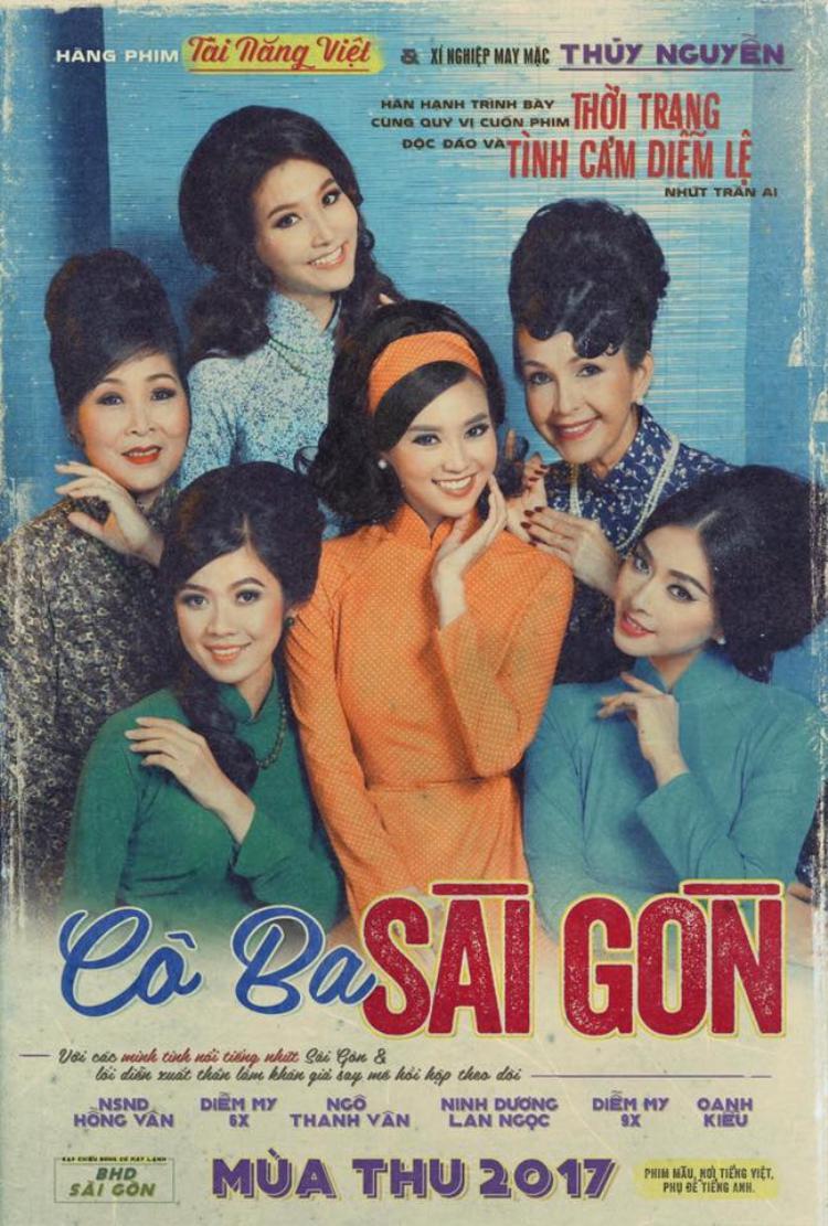 Poster hoài niệm và ấn tượng của Cô Ba Sài Gòn.