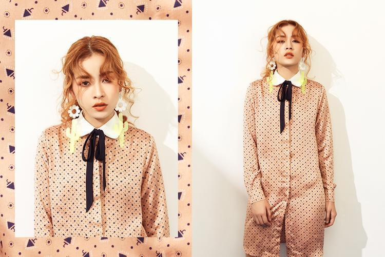 Vẫn với các gam màu ngọt ngào và hoạ tiết xinh xắn các bạn trẻ sẽ nổi bật hơn với các dáng áo đơn giản, nữ tính.