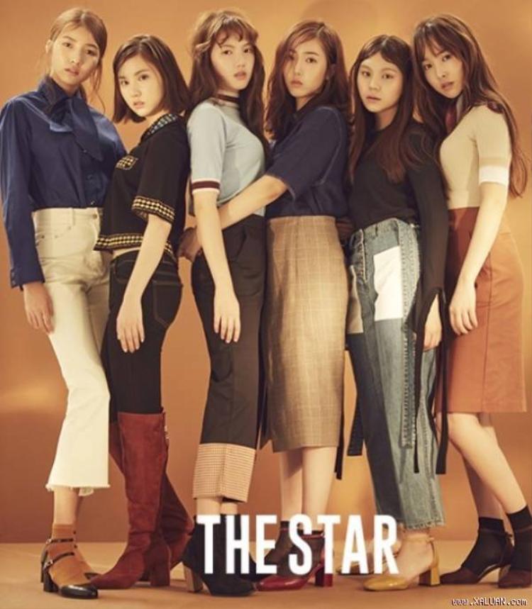 Các cô gái Gfriend trong quảng cáo của THE STAR.