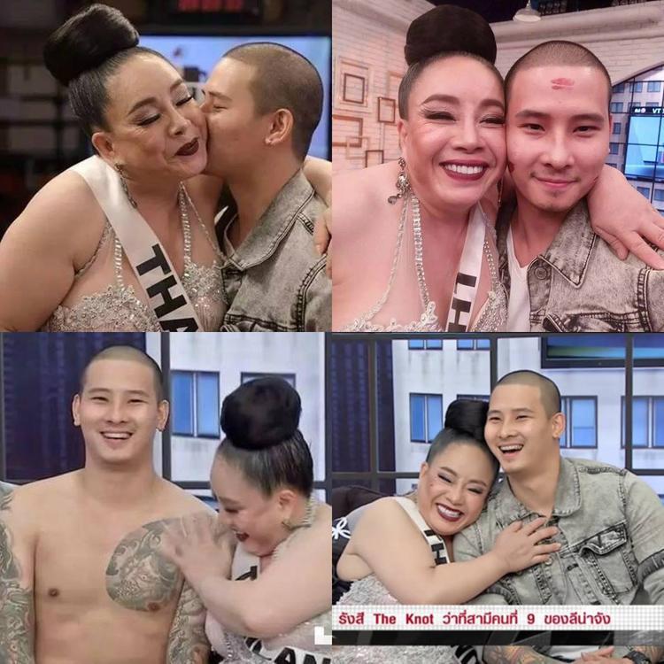 Trong một show truyền hình gần đây, hai vợ chồng đã không ngần ngại chia sẻ những khoảnh khắc cực kì lãng mạn bên nhau. Thậm chí Rangsee còn cởi áo khoe cơ bụng trên sóng truyền hình.