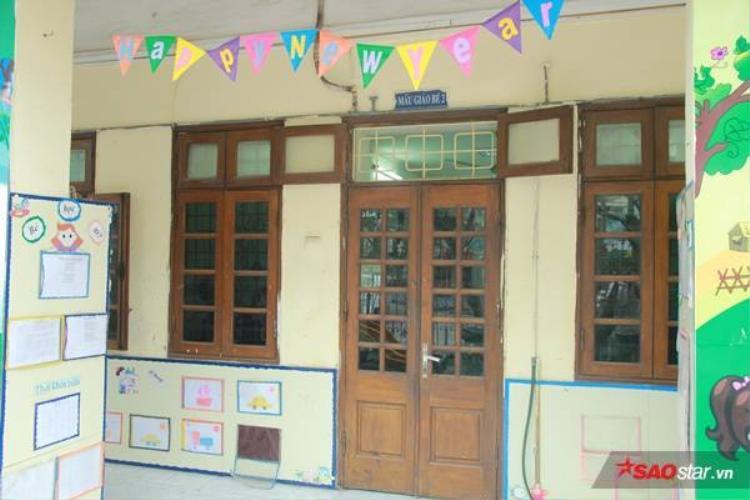 Phòng học của con chị T.