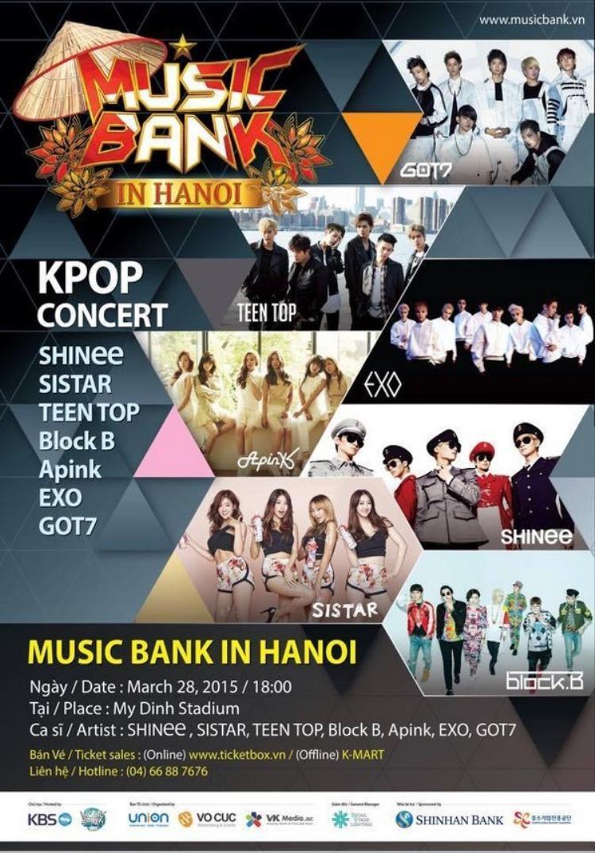 Với Music Bank vào năm 2015, fan Việt được tái ngộ boygroup hàng đầu châu Á: EXO.