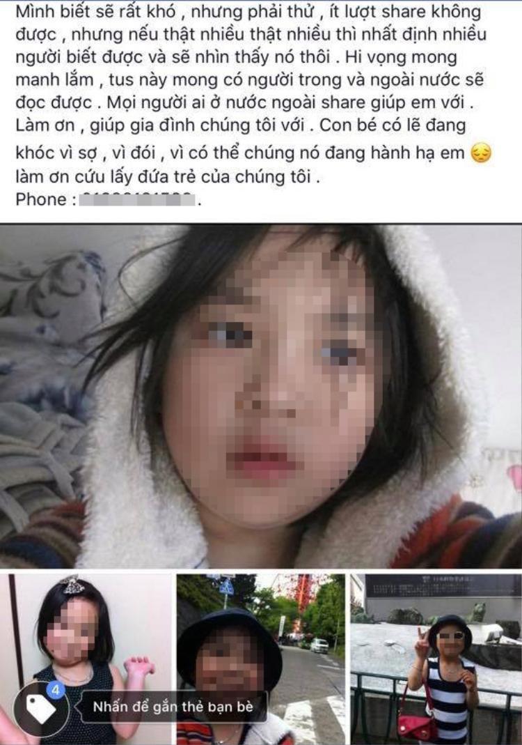 Bé gái 9 tuổi người Việt mất tích bí ẩn, nghi bị bắt cóc ở Nhật Bản