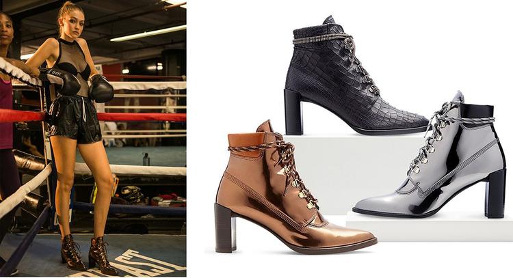 """Ankle boots là """"nữ hoàng"""" lên ngôi ở thời điểm hiện tại. Gigi Hadid, Kendall Jenner là tín đồ của những đôi ankle boots trendy nhất."""