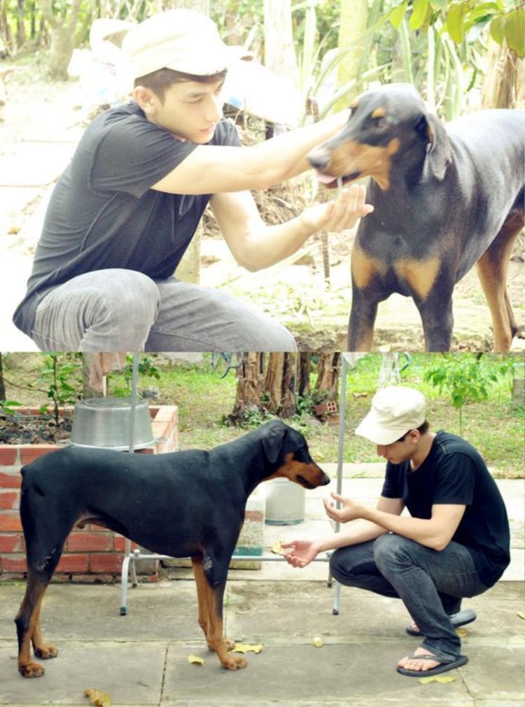 Hay chó to thì Isaac vẫn rất cưng chiều và quan tâm nhẹ nhàng.