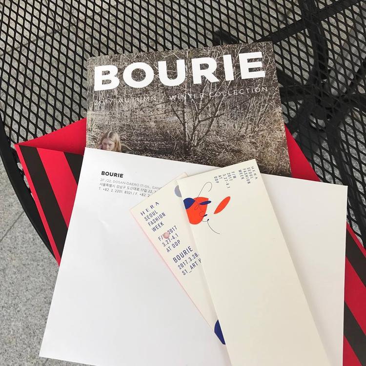 Tấm thiệp mời của thương hiệu Bourie được Hoàng Ku update trên trang cá nhân của anh.