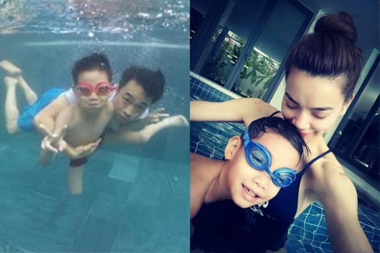 Không chỉ nói tiếng Anh tốt, Subeo còn bơi lội rất giỏi.