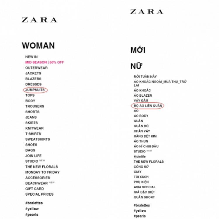 """Từ """"Jumpsuit"""" đã được Zara chuyển hóa trở thành Bộ áo liền quần siêu """"hài hước""""."""