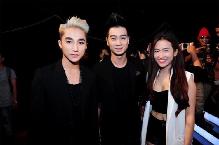 Sơn Tùng, SlimV và DJ Trang Moon.
