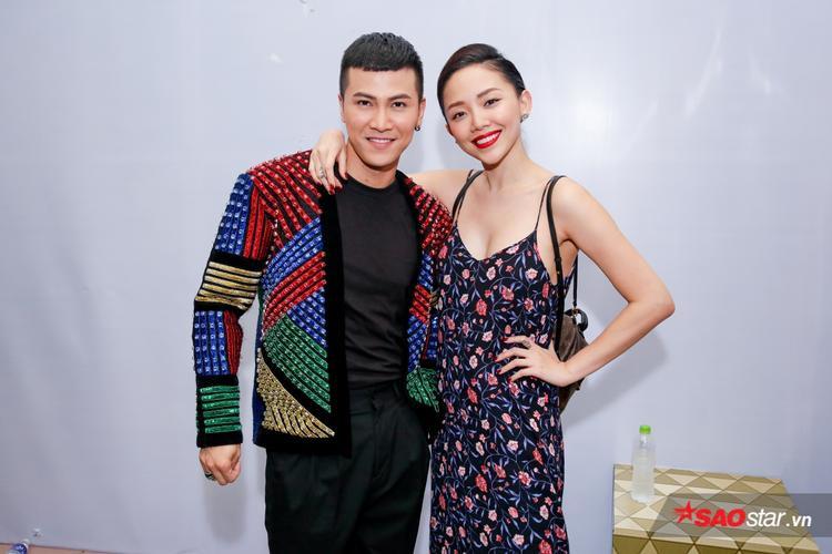 Tóc Tiên sexy đến cổ vũ bạn thân của mình.