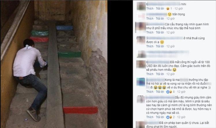 Câu chuyện về ông chồng sơm bậc thang màu cầu vồng tặng vợ thu hút khá nhiều sự quan tâm từ cộng đồng mạng.
