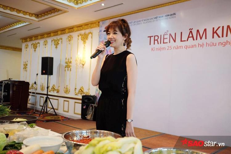 Bà xã Trấn Thành bày tỏ niềm vui, sự hào hứng khi góp mặt trong sự kiện đặc biệt này.