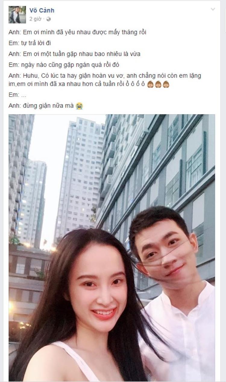 Võ Cảnh bất ngờ công khai tình cảm với Angela Phương Trinh ngay ngày Cá tháng Tư