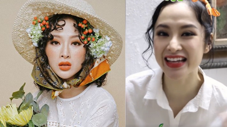 Hình ảnh trái ngược về chiếc mũi của Angela Phương Trinh.