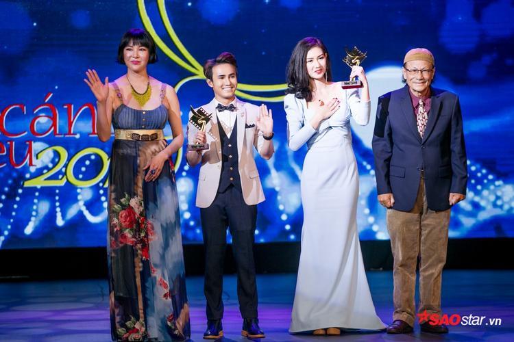 Huỳnh Lập và Quỳnh Chi là hai diễn viên phụ xuất sắc được vinh danh trong lễ trao giải.