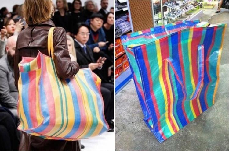"""Rõ ràng, từ kiểu dáng đến cách phối màu của mẫu phụ kiện hàng hiệu đều được cho là rất tương đồng với chiếc túi nilon có tên gọi """"Sampeng""""."""