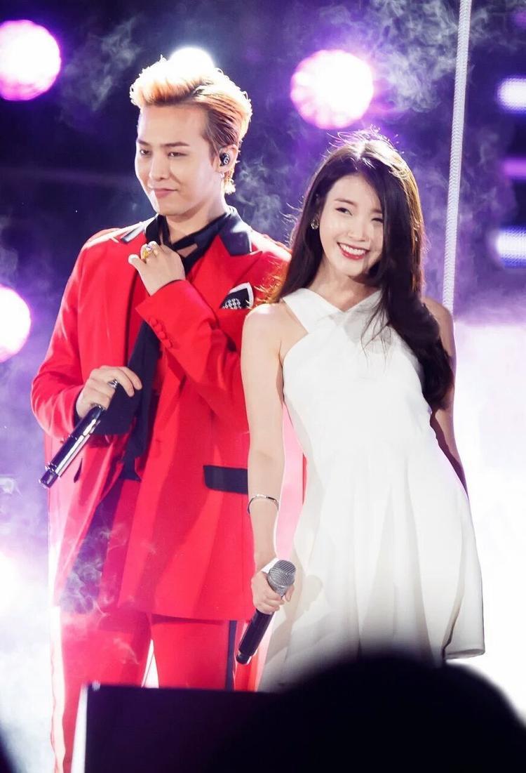 G-Dragon và IU.