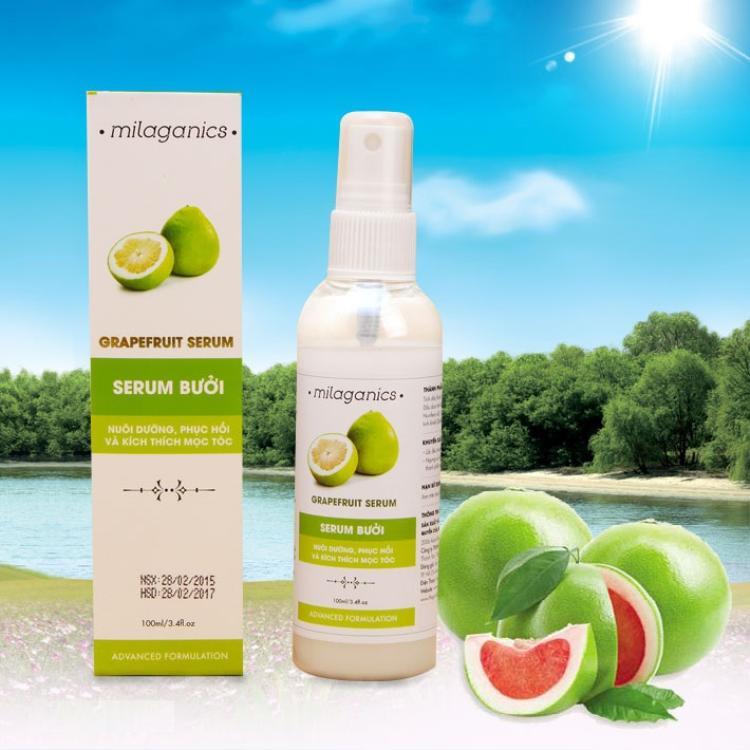 Bộ 2 serum bưởi dưỡng tóc Milaganics 100ml 100 ngàn đồng.