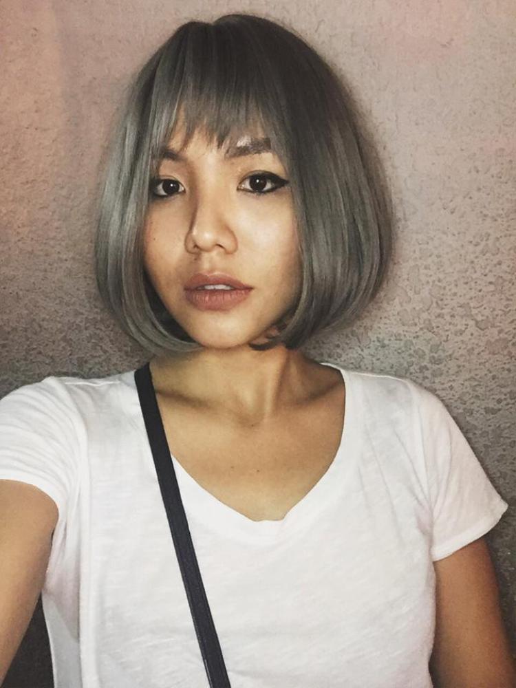 Cùng màu đó nhưng với kiểu tóc ngắn sẽ giúp các nàng có diện mạo hoàn toàn khác lạ.