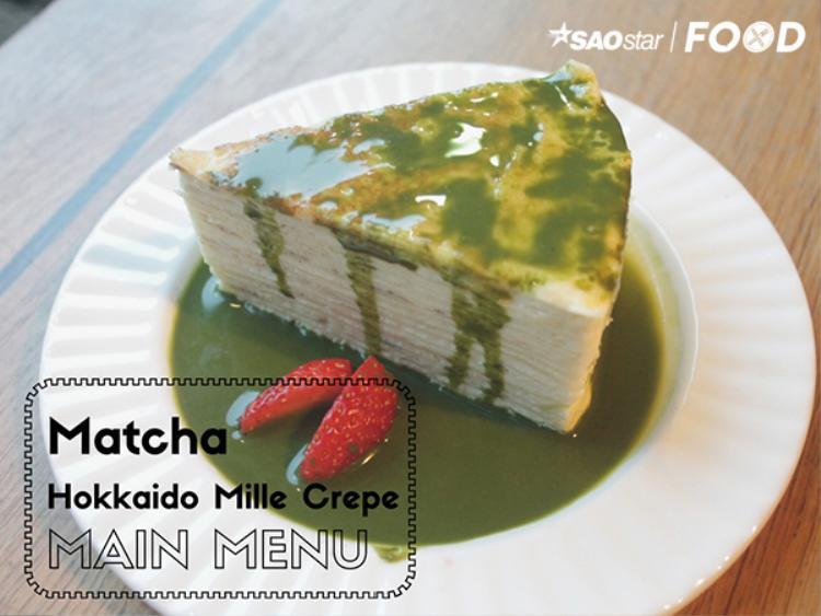 Bánh crepe nhiều lớp cùng sốt Matcha