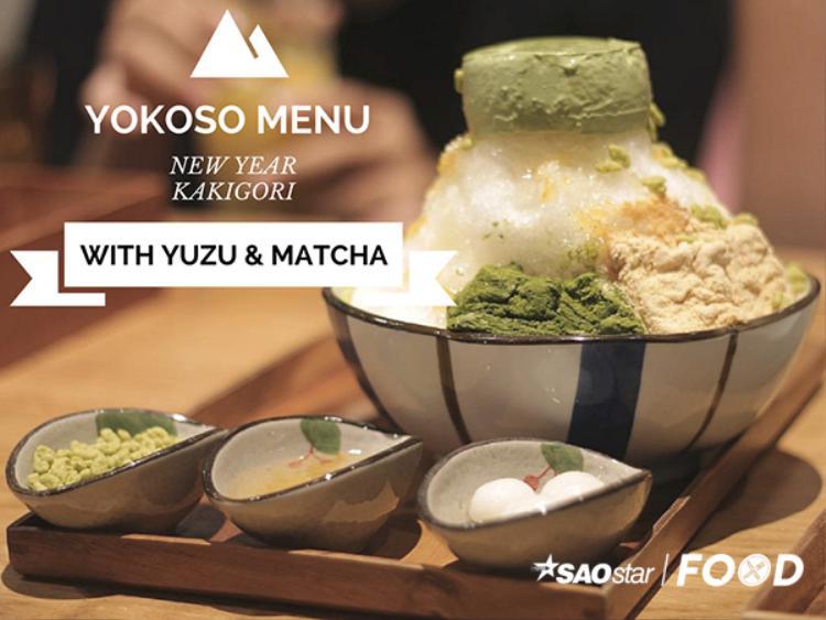 Đá bào Kakigori vị quýt Nhật và Matcha