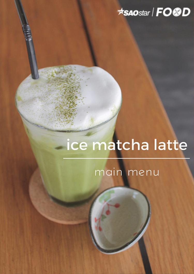Món matcha latte là sự kết hợp ăn ý giữa sữa và matcha