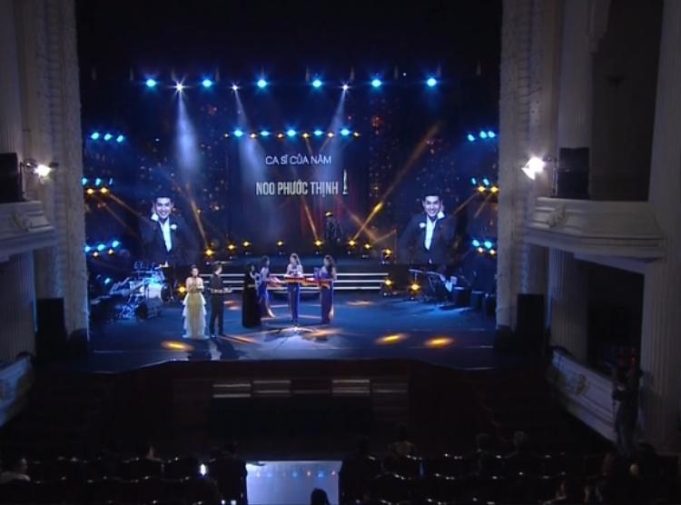 Noo Phước Thịnh chiến thắng ở giải thưởng quan trọng nhất: Ca sĩ của năm.