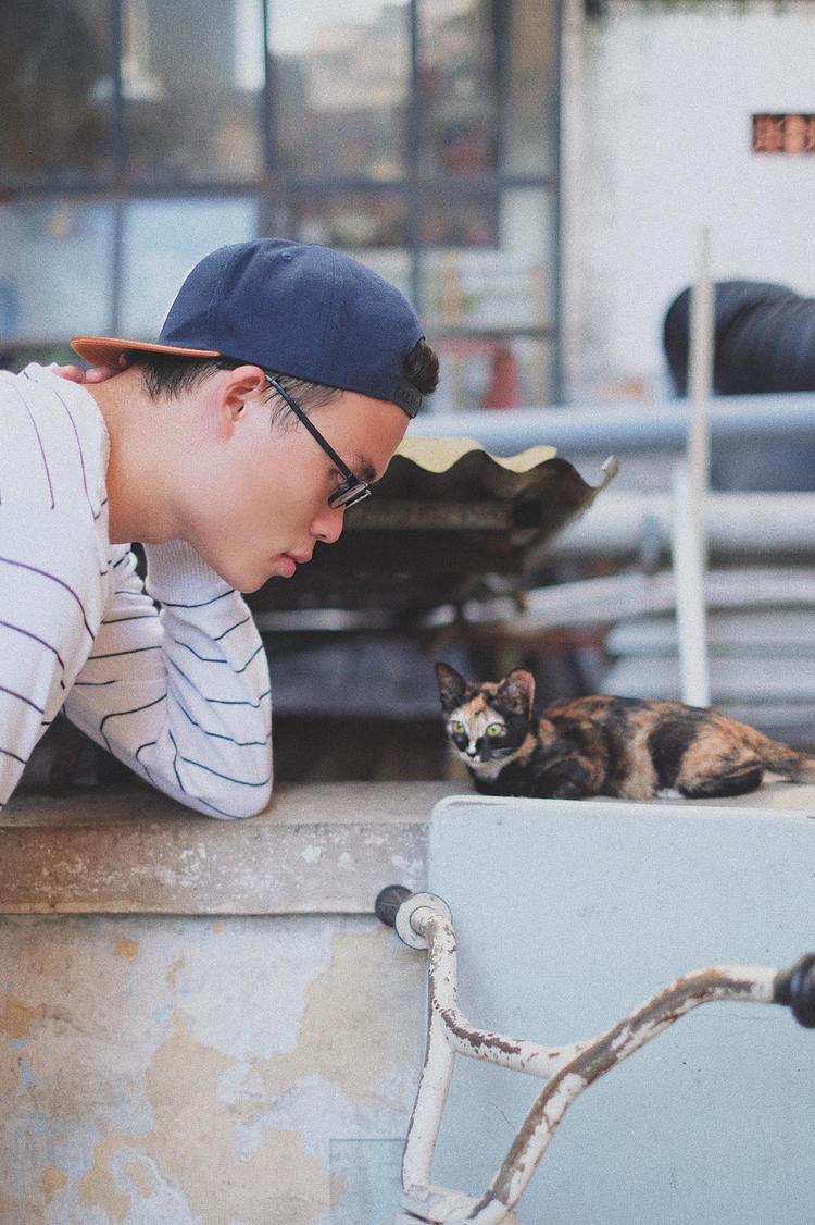 Thì thầm nhỏ to cùng chú mèo dễ thương.